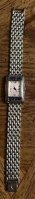 Ecclissi Sterling Silver Mother of Pearl Purple Stone 32140 Wrist Watch