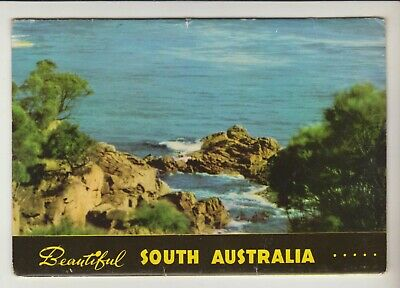 Foldout Beautiful South Australia 16 Scenes Capt Frank Hurley Postcard  C1950