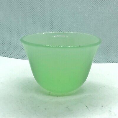 Vintage Chinese Green Jade Or Glass Cup Asian Old Bowl Oriental Old Decor