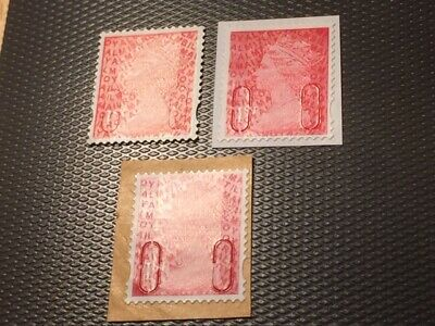 3 x GB 1st Class Unfranked stamps IRIDESCENT SHIFTS Different Codes (LOT T74)