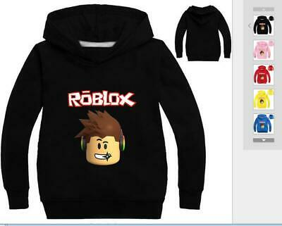 ROBLOX Kids Boys Girls Cotton Long Sleeved Sweater Hoodies Coat Jacket Pullover