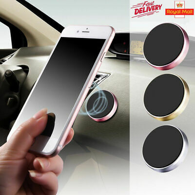 UK In Car Magnetic Phone Holder Fits Dashboard Universal Mount Various Colours