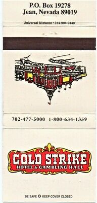 Gold Strike Hotel And Casino Matchbook Cover Vintage Jean Nevada