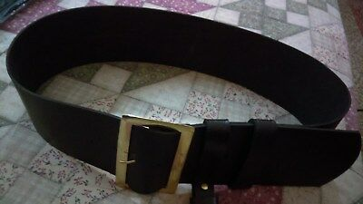 Leather Belt With Solid Brass Buckle Santa Claus/ Pirate.   G.p