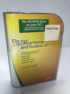 Microsoft Office Home and Student Word Excel PowerPoint OneNote 2007 FREE SHIP
