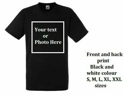 Great personalised t-shirts, front and back Text, logo, picture great quality a