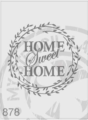 Stencil 878 Home Sweet Home DIY Sign Stencils Furniture Farmhouse Art