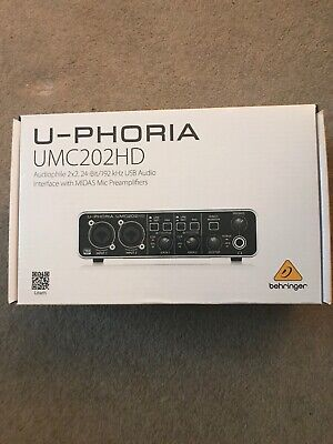 Behringer U-PHORIA UMC202HD 24 Bit/192 kHz USB Audio Interface