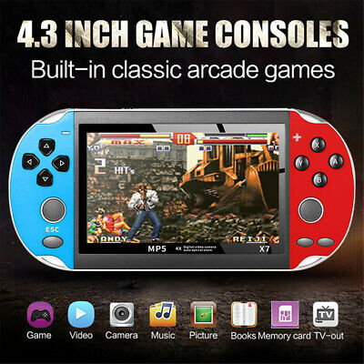 """4.3"""" Retro Classic Pocket Game Console Handheld Portable Built-in 800 Games Gift"""