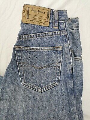 Pepe Jeans ladies  Mom Vintage Jeans high waisted light wash Blue Size 8-10