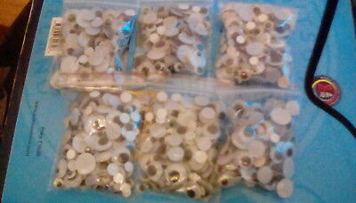 New 120 Stick On Wiggly Wibbly Wobbly Eyes Googly Eyes Art Crafts Mixed Sizes