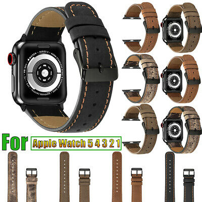 Genuine Leather Retro Band Strap For Apple iWatch Series 5 4 3 2 1 38/40/42/44mm