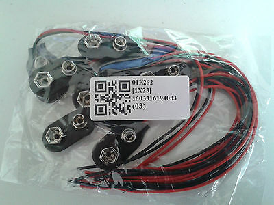 3x2fat 9 volt power supply 6x AA 9v battery holder /& PP3 connector cable.