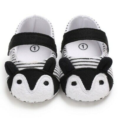 Baby Shoes Fox Striped Cute Baby Infant Girls Anti-slip Soft Sole Crib Shoes NEW