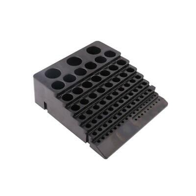 Drill Bit Storage Box Milling Cutter Drill Finishing Organizer Case Holder Black