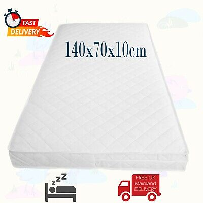 COT BED MATTRESS Quilted Baby Waterproof Breathable Matress Thick 140x70x10cm