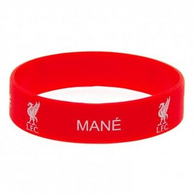 Liverpool F.C Mane Silicone Bracelet Red Wristband Gummy Rubber Badge Official