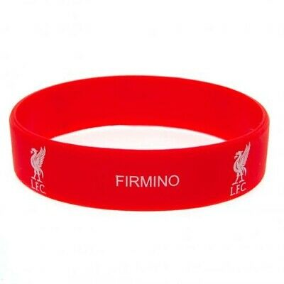Liverpool FC Firmino Silicone Bracelet Red Wristband Gummy Rubber Badge Official