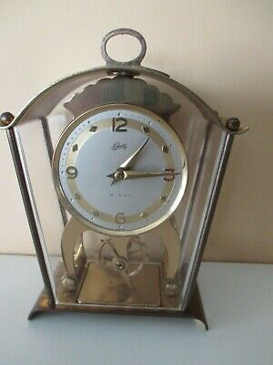 Schatz & Sohne  brass mantle /carriage clock 8 day. skellington & wind up.