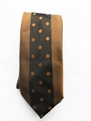 Brown Spotted 60'S Retro Trevira Vintage Tie 2.5 Inch Wide Funky Indie Mod
