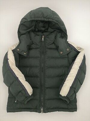 Moncler Boy's English Green Nylon Real Down Puffer Jacket Size 6 Years