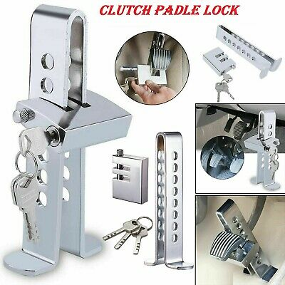 Car Stainless Brake Clutch Pedal Lock Steering Wheel Lock Security Anti-Theft