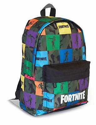 FORTNITE Unisex Kids And Adults Backpack With Pocket, Multicolour Print