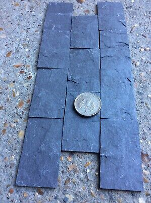 Real Slate Dolls House / Miniature Cobble Stones/ Slips Dark Purple In Colour