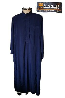 Men's Egyptian Galabeya / Thobe / Dishdash  | Stunning Blue Silk | XL | Islamic