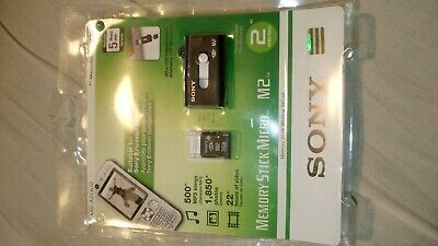 Sony Memory Stick Micro M2 2GB & M2 Card, PERFECT PHONE MEMORY UPGRADE/TO LAPTOP