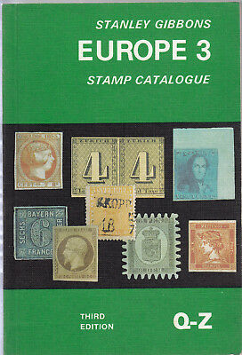 Stanley Gibbons Europe 3 Stamp Catalogue Q-Z, Third Edition 1978