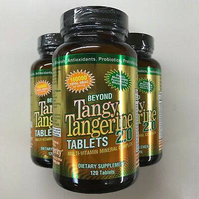 Youngevity Dr. Wallach Beyond Tangy Tangerine BTT 2.0 Tablets - 120 (3 Pack)