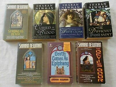 LOT OF 7 CATHERINE LeVENDEUR MEDIEVAL MYSTERY SERIES by SHARAN NEWMAN - PARIS