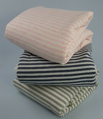 BNWT Wholesale reversible stripe baby blankets 3 colours - 12 items - RRP £312