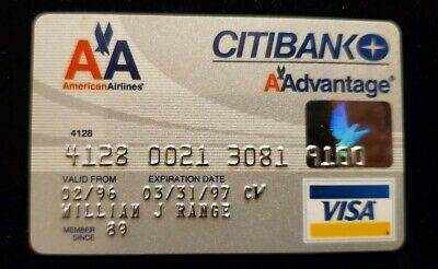 American Airlines Citibank Visa Credit Card exp 97♡Free Shipping♡cc127