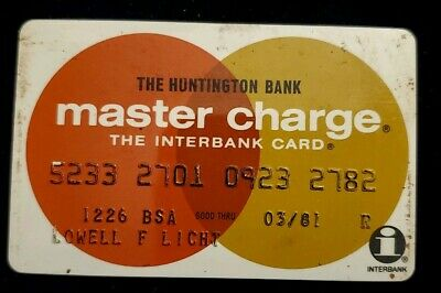 The Huntington Bank MasterCard Credit Card exp 81♡Free Ship♡cc146☆Interbank Card
