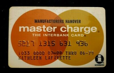 Manufactures Hanove MasterCard Credit Card exp 79♡Free Ship♡cc147☆Interbank Card