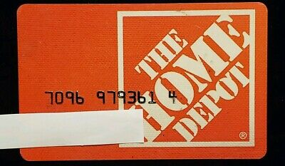 Home Depot Charge Card ♡Free Shipping♡ ccb9