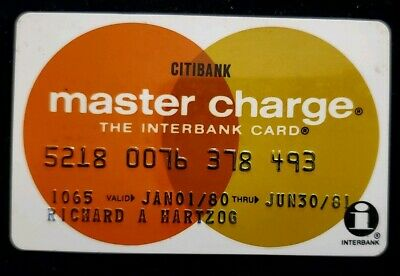 CitiBank MasterCard Credit Card exp 81♡Free Ship♡cc145 ☆ Interbank Card