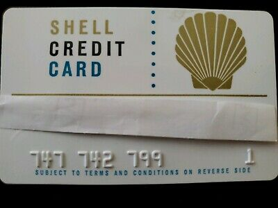 Shell Oil - Vintage Credit Card ♡Free Shipping♡ cc7