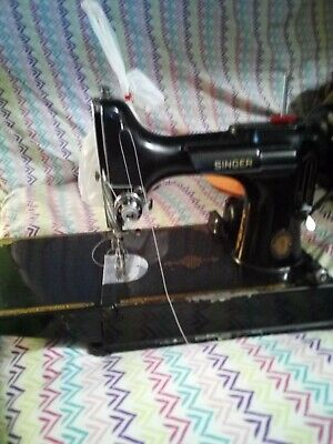 Vintage 1937 Singer Featherweight 221 Sewing Machine w/ Case Pedal & Attachments