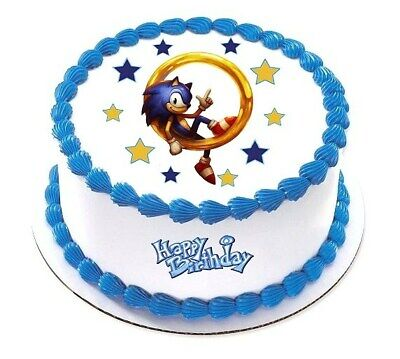 Cookware Dining Bar Sonic The Hedgehog Cake Topper Party
