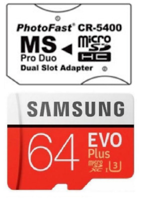 64Gb Memory Stick Pro Duo Adapter Samsung For Psp 3001 3000 2000 1000 E1000 1003
