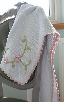 BNWT Wholesale 100% cotton baby blankets - 2 designs. 24 units - RRP £624