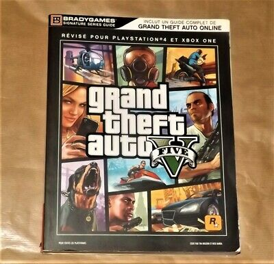 Guide Stratégique officiel Gran theft auto 5 V GTA 5 BradyGames FR ps4 Xbox one