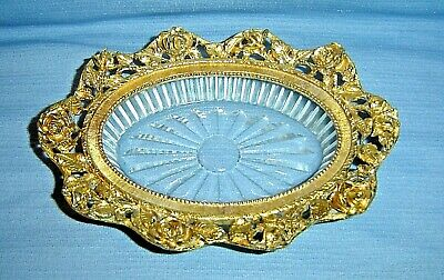 SIGNED Vintage MATSON ROSE ORMOLU HOLLYWOOD REGENCY SOAP DISH, GORGEOUS