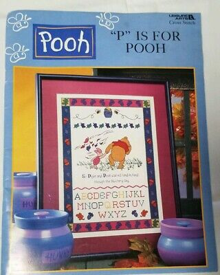 P Is For Pooh Cross Stitch Pattern Booklet Leisure Arts 3089 Winnie the Pooh