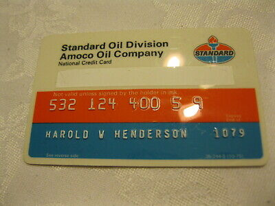 Vintage Standard Oil Amoco Oil Company National Credit Card Expired 1979