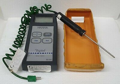 Hanna Instruments NS 930 Digital Thermometer, 1 Input, K Type with a probe