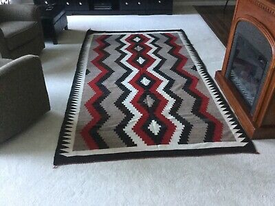 "Large Antique Navajo Rug . 64"" x 110"" mid 20th century."